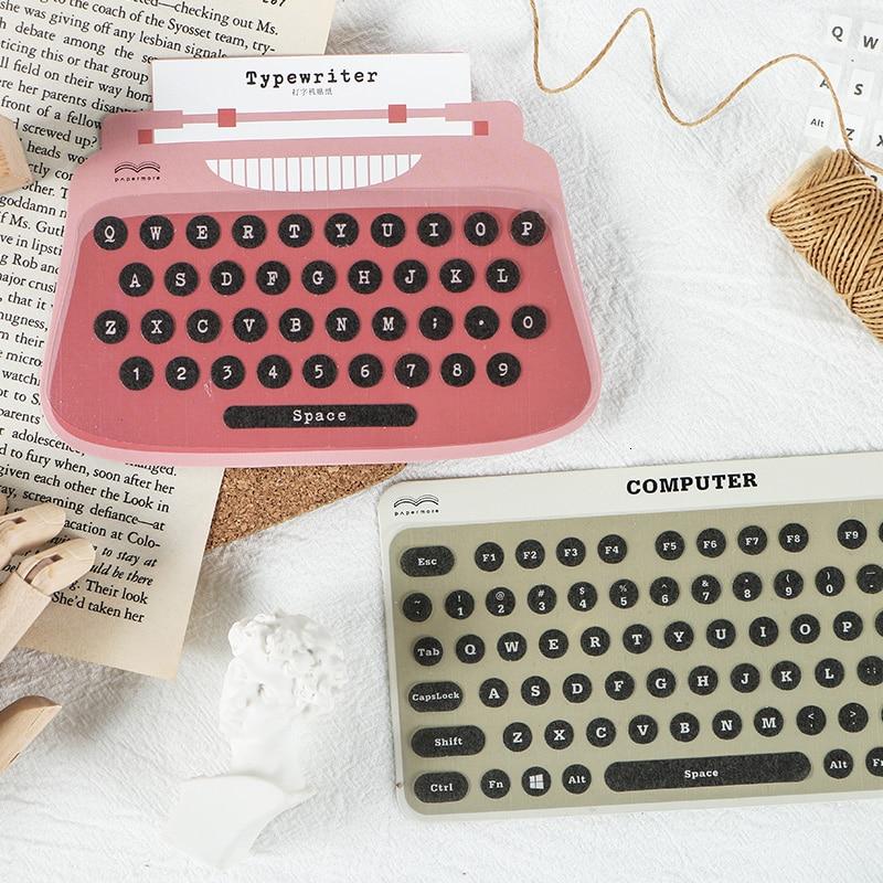 JIANWU Digital Modelling Stickers Diary Planner Decorative Typewriter Stickers Scrapbooking DIY Bullet Journal Sticker Kawaii