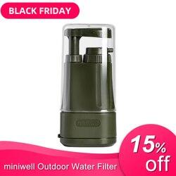 Portátil de filtro de agua para camping senderismo pesca de emergencia/preparación para casos de desastre y filtro de agua para sobrevivir/sistema de filtración