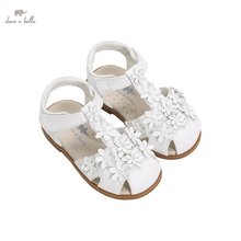 DB16590 Dave Bella summer fashion baby girls floral sandals new born infant shoes girl sandals cute shoes