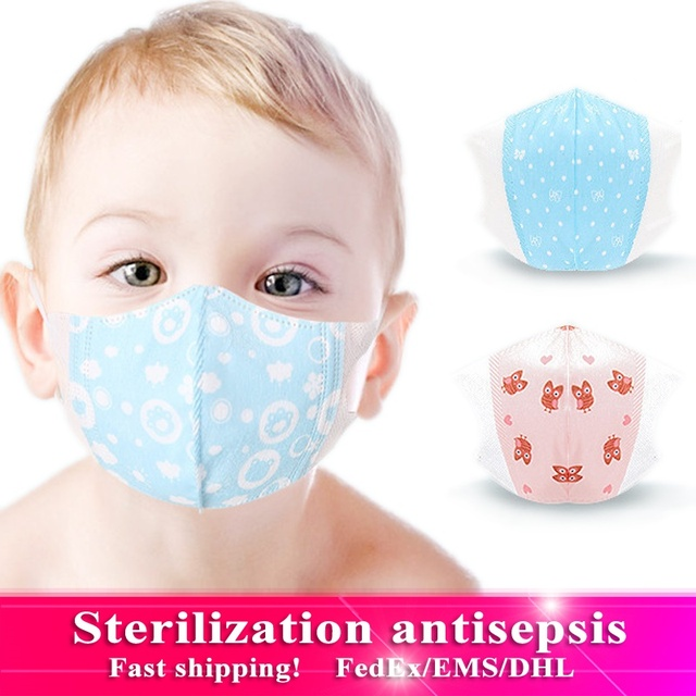 10 pcs Baby Care Kids Mouth Mask Anti Dust Activated Carbon Filter Windproof Mouth-muffle Bacteria Proof Flu Children Face masks