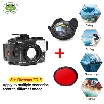 Get 57% OFF – SeaFrogs TG6  Underwater Diving Waterproof Housing Camera Case for Olympus