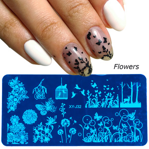 Image 4 - STZ Christmas Designs Nail Stamping Plates Snowflakes Deer Gift Nail Art Stamp Templates Stencils Polish Manicure Tools STZ N/BE