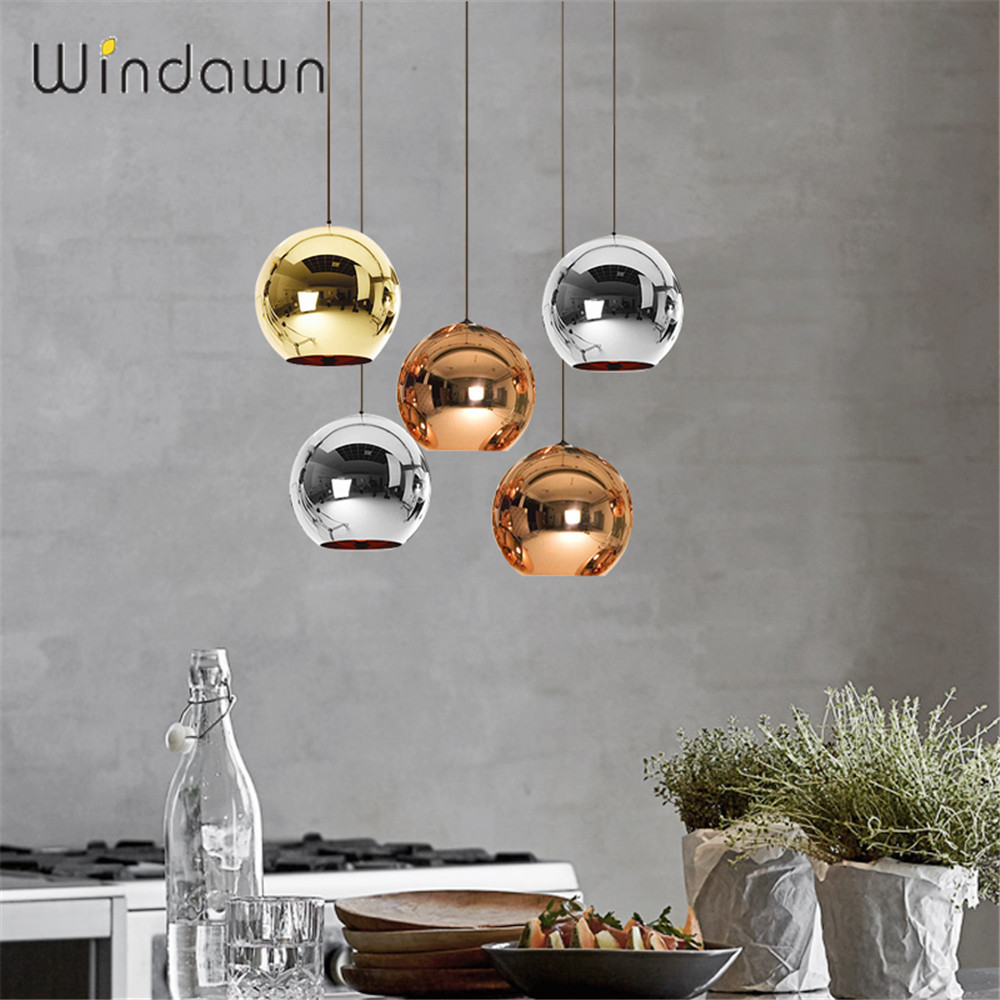 Windawn Nordic Pendant Lights Iron Ceiling Lamp Glass Simple Bedside Lamp Modern Hotel Bedroom Living Room Office Ceiling Lamp