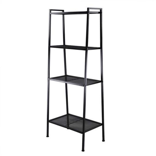 Storage Rack Widen 4 Tiers Bookshelf Ivory White or Black[US-W] 2