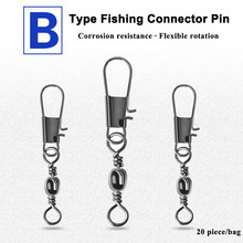 Pin Tackle-Accessories Fishhook-Lure Fishing-Connector Rolling-Swivel Stainless-Steel