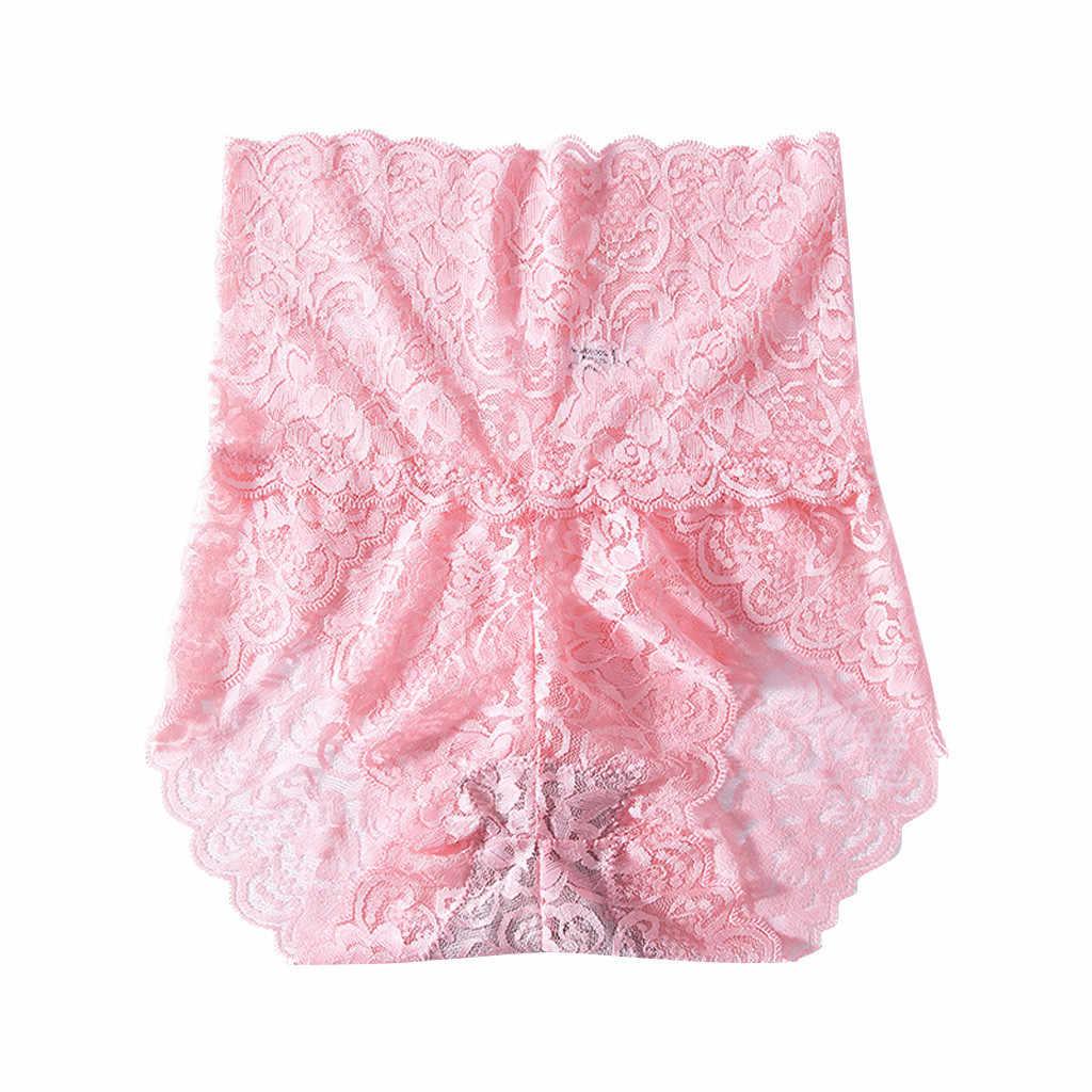Sexy calcinha feminina de cintura alta rendas tangas e g cordas roupa interior das senhoras oco para fora cuecas intimate lingerie boxers de algodão