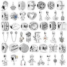 Novo brilho infinito doce casa grânulo caber pandora encantos pulseira pingente jóias para mulher homem diy fazer