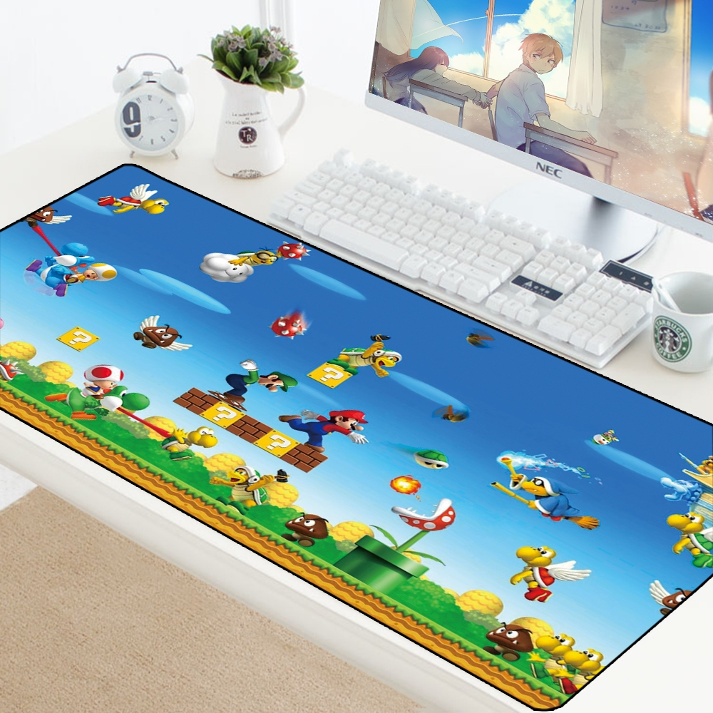 Mario Mousepad Computer PC Mouse Pad Christmas Gifts Gaming Padmouse Kekyboard Gamer To Mouse Play Mats Desk Mousepad For Laptop