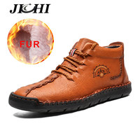 New Men Winter Boots Warm Men Shoes Leather Boots Men Comfortable Ankle Snow Boots Big Size
