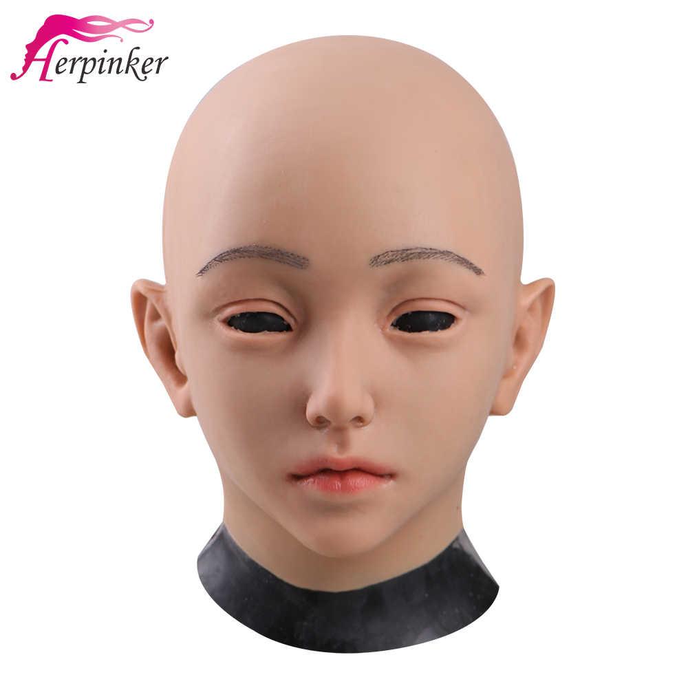เกรด Top ฮาโลวีนเลดี้หน้ากากผิวซิลิโคนหญิงหน้ากากมนุษย์หน้ากากซิลิโคนซิลิโคน Face Mask PARTY คอสเพลย์จัดส่งฟรี