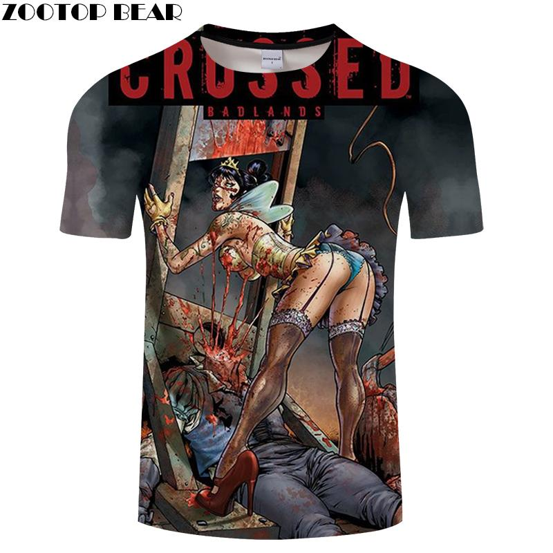 Skull Tshirt Men T Shirt 3d Halloween Top Tee Fashion T-shirt Short Sleeve Funny Camiseta Mens Clothing Drop Ship ZOOTOP BEAR