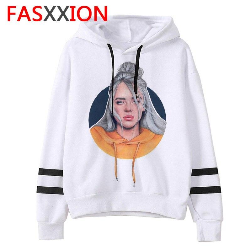 Billie Eilish sweat femmeshommes sweats à capuche esthétiques ulzzang graphique drôle vêtements streetwear coréen capuche surdimensionné streetwear