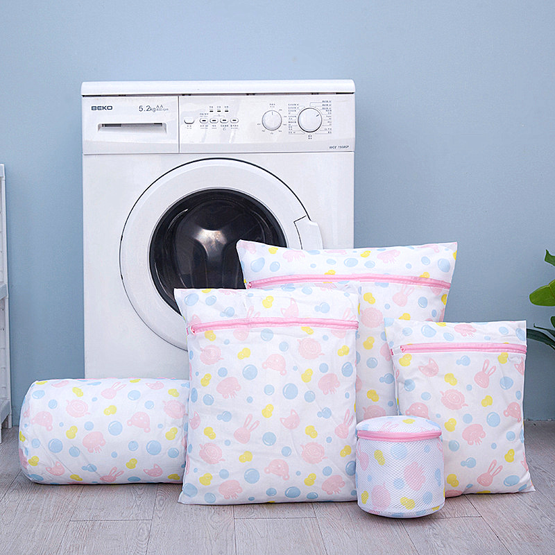 Printing Laundry Bag Washing Machine Wash Bags Special Coarse Net Fine Mesh Thickening Zipper Packing Sock Underwear Laundry Bag