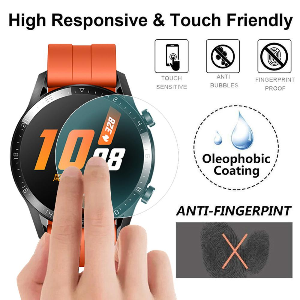 Huawei Watch GT 2 Strap For Huawei Watch GT2 46mm 42mm Screen Protector Explosion-proof TPU Full Cover Smart Watch Bracelet Gt2