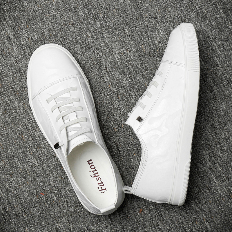 Brand Designer Men's Casual Shoes Summer Breathable Fashion White Sneakers Men Leather Shoes Loafers Male Tenis Krasovki