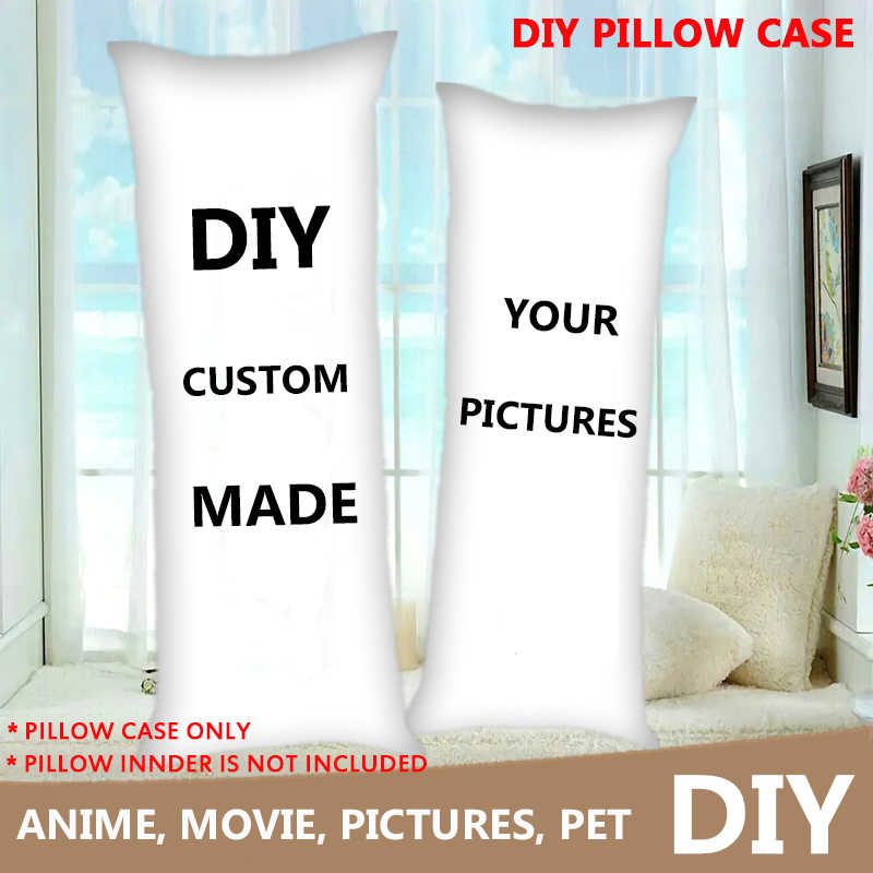 diy custom made anime dakimakura hugging body pillow case diy printed only one for you throw cushion pillow cover home bedding