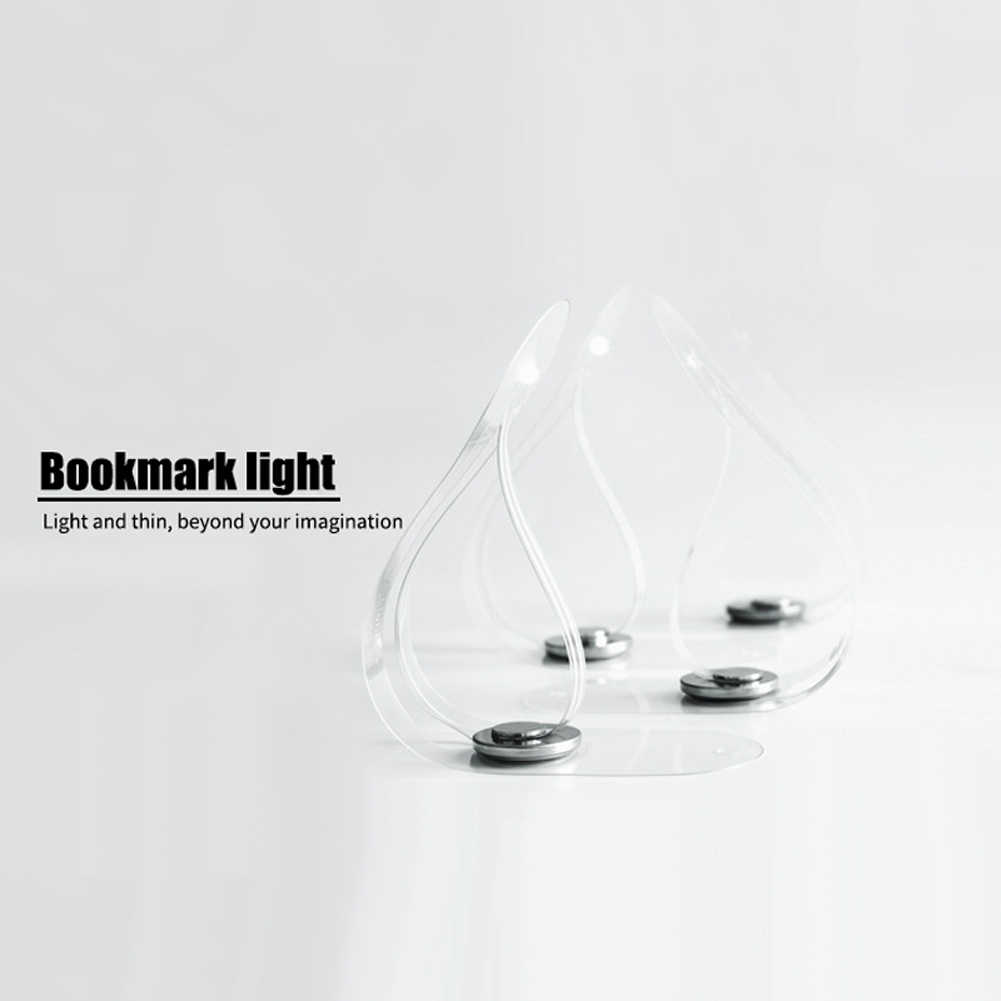 Книга свет обучения Прозрачный мини удобный подарок ночник Гибкая спальня чтения ультра тонкий Многофункциональный светодиодный портативный