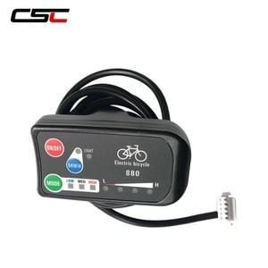 Image 2 - Wyświetlacz roweru elektrycznego 36V 48V inteligentny Panel sterowania rowerowego KT LCD3 LCD8 LED880 ebike LCD