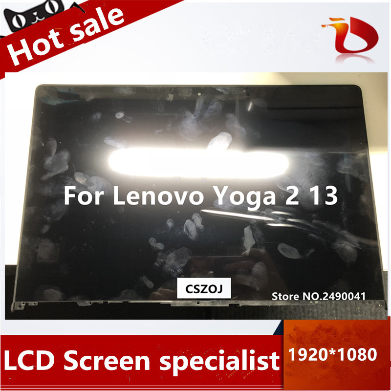 Free Shipping LCD Touch Digitizer Screen Assembly B133HAN02.0 LP133WF2 SPA1 For Lenovo Yoga 2 13 yoga2 13 LCD screen Assembly image