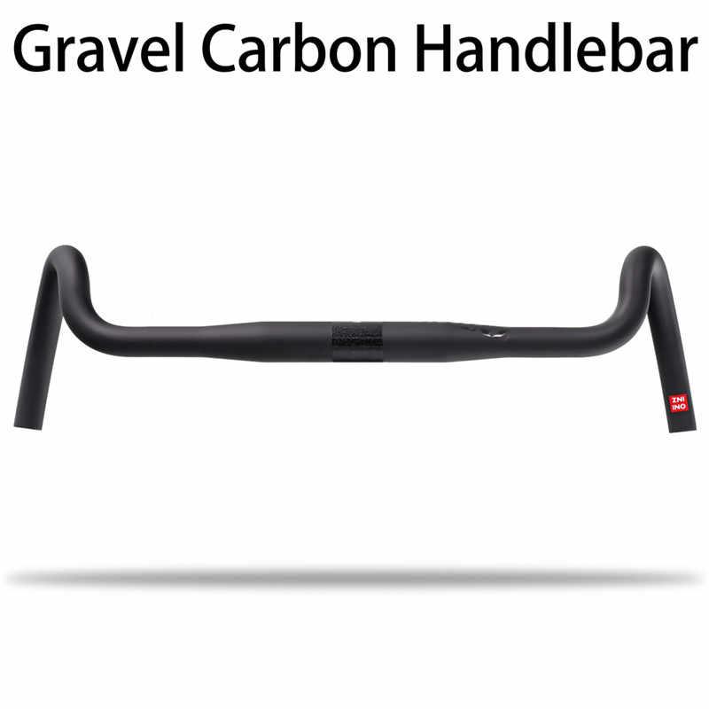 2020 yeni karbon çakıl gidon büyük parlama Bar Cyclocross yol bisikleti gidon 400/420/440mm karbon fiber bisiklet gidon