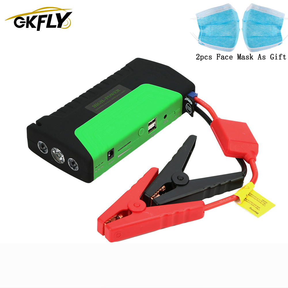GKFLY Emergency 600A Car Jump Starter 12V Portable Starting Device Power Bank Car Charger For Car Battery Booster Buster Starter