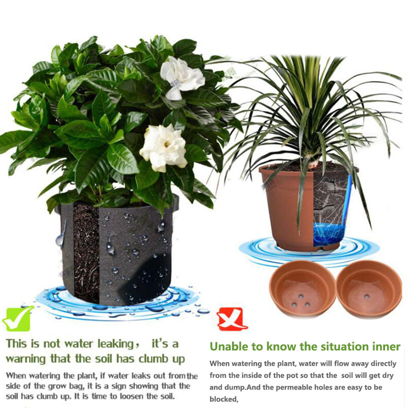 1-30 gallon big Plant seedling Grow Bags