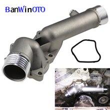 Корпус термостата, выпускное отверстие охлаждающей жидкости, фланец с водяной горловиной для BMW 5 7 E38 E39 520 528i 11531740478, Модернизированная алюми...