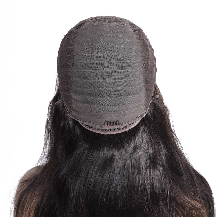 He777c6b772fb468a86c8226136696715N 10-28 inch wigs Brazilian 4x4 Closure Wig 100% Human Hair Lace Wigs Long Straight Remy Lace Closure Wigs for Woman 150 Density