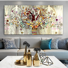 Tree of Life Gustav Klimt Landscape Canvas Painting Posters and Prints Wall Art Picture Cuadros Home Decoration Room Decor(China)