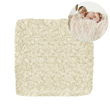 Wrap Photography Props Warm Unisex Backdrop Mat Newborn Baby Blanket Square Faux Fur Soft Solid Rug Stuffer(China)