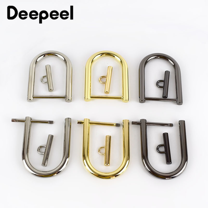 2/4pcs Bag Strap Metal Buckles Openable Removable Screws D-Shape Buckle Clasp DIY Hardware Handbag Accessories F1-3