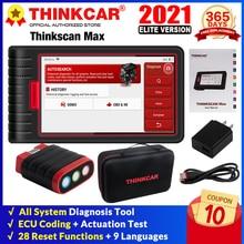 Thinkcar OBD2 Scanner ThinkScan Max bluetooth Full System Diagnose Scan Werkzeuge 28 reset dienstleistungen Diagnose OBD2 Code Reader