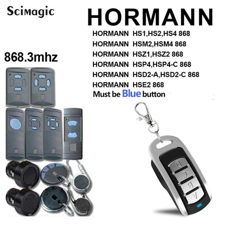 Hormann 868mhz porta da garagem clone de controle remoto para hormann hsm2 868 hs4 868 hs1 868 hs2 868 controles remotos duplicador portão controle