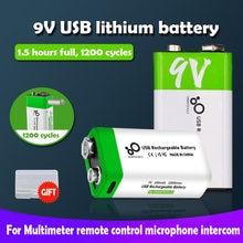 9 V 650mAh 6F22 9 V micro USB akumulator litowo-jonowy do helikopter RC multimetr zabawki mikrofon domofon masażu