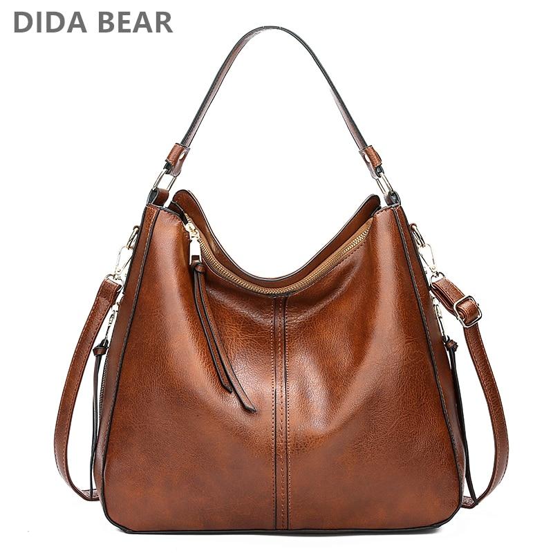 DIDABEAR Hobo Bag Leather Women Handbags Female Leisure Shoulder Bags Fashion Purses Vintage Bolsas Large Capacity Tote Bag
