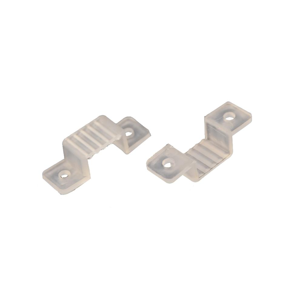 For 3528 5050 LED Strip Light 10//14//17mm Mount wholesale Silicone Fixing Clip