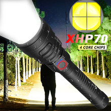 120000LM Most Powerful LED Flashlight USB Rechargeable Torch XHP50 XHP70 Hand Lamp 18650 26650 Battery Flash Light