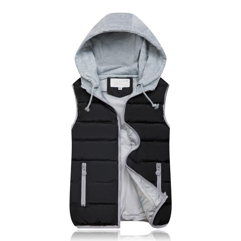 He778a46363be4c118dbd6fd526f8a615l 2019 Winter Coat Women Hooded Warm Vest Plus Size Candy Color Cotton Jacket Female Women Wadded Feminina chalecos