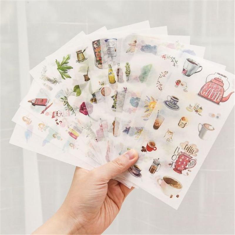 2020 NEW Cartoon Flowers Leaves Sticker DIY Diary Decor Stickers Scrapbook cute Stationery journal S