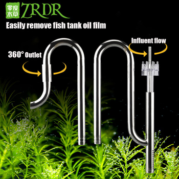 цена на ZRDR 12 /16mm Aquarium Fish Tank Filter Inflow and Outflow Stainless Steel Tube Lily Tube Fish Tank Aquatic Water Tank Filter
