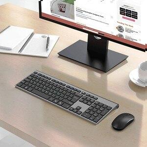 Image 3 - ワイヤレスキーボードマウス、2.4ギガヘルツ安定した接続充電式バッテリー、フルサイズロシアレイアウト、黒グレー