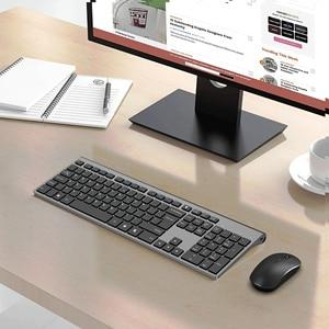 Image 3 - Tastiera e mouse senza fili, 2.4 gigahertz stabile connessione batteria ricaricabile, Full size il layout Russo, nero grigio Argento bianco