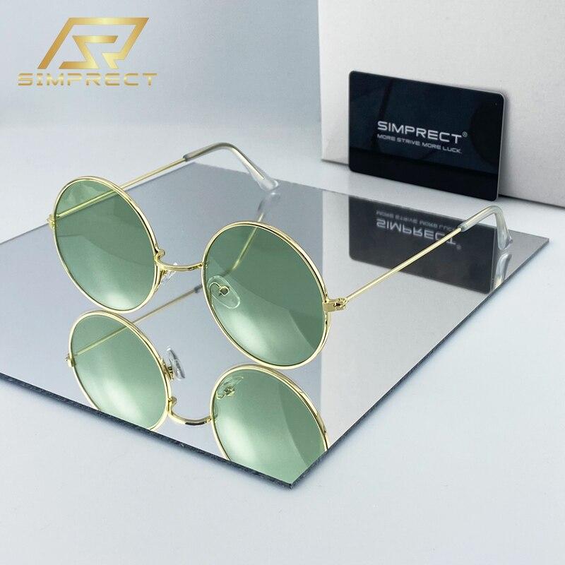 SIMPRECT Vintage Round Sunglasses Women 2020 Fashion Brand Designer Retro Sunglasses Men UV400 Sun Glasses Shades For Women