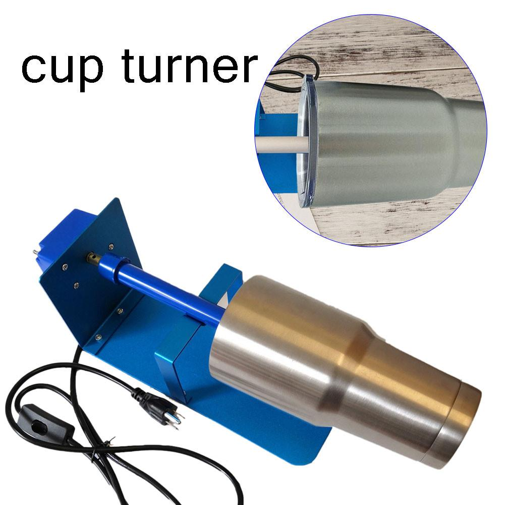 2.5-3RPM Adjustable Mug Iron Cup Turner Spinner Tumbler Foams Making Cup DIY 110-240V Pottery Ceramics Tools For Painted