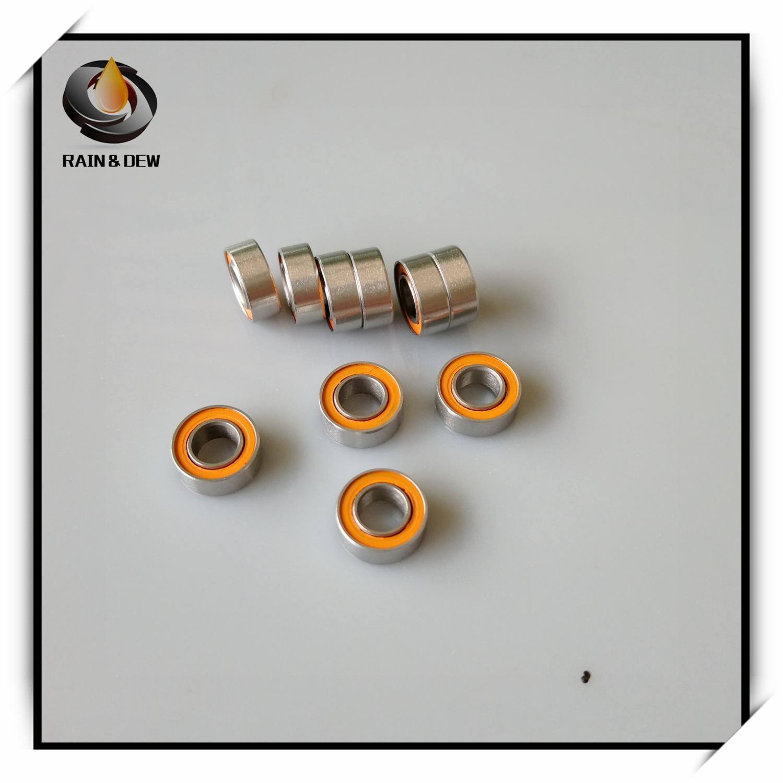 1Pcs  SMR84 2RS CB ABEC7 4X8X3 Mm SMR84-2RS ABEC-7  Stainless Steel Hybrid Si3n4 Ceramic Ball Bearing SMR84 2RS MR84