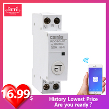 Cemig Circuit-Breaker Voice-Control Wifi Alexa Google Ewelink Amazon Rail with And 18mm