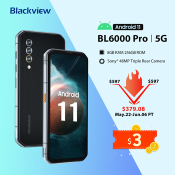 Blackview BL6000 Pro 5G Smartphone IP68 Waterproof 48MP Triple Camera 8GB RAM 256GB ROM 6.36 Inch Global Version Mobile Phones 1