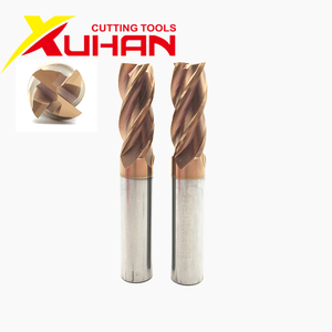 Image 3 - HRC55 Carbide end mill 1 2 4 5 6 8 10 12mm 4Flutes Milling Cutter Alloy Coating Tungsten Steel cutting tool CNC maching Endmills