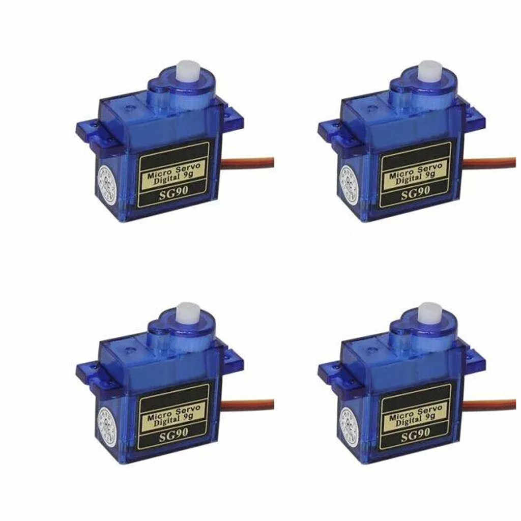 4x9g Sg90 Micro Servo Motor Voor Rc Robot Helicopter Vliegtuig Aircraf Auto Boot Rc Auto-accessoires Rc onderdelen Rc Boot Accessoires