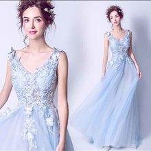 N большой размер 5xl синий свадебный выпуск вечерние платья без рукавов v-образный вырез роскошное вечернее формальное платье для женщин плюс размер 4xl